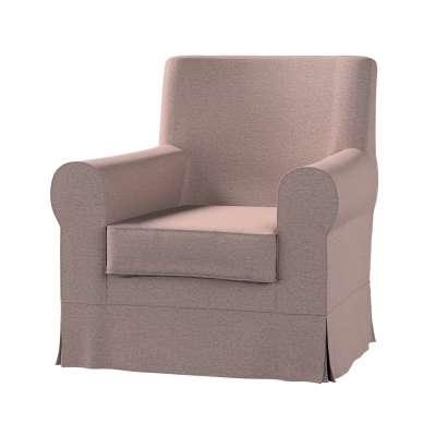 Pokrowiec na fotel Ektorp Jennylund 161-88 szaro - różowy melanż Kolekcja Madrid