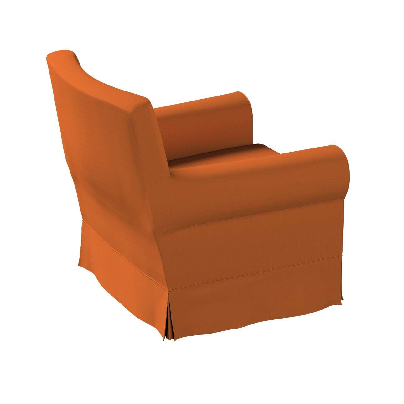 Pokrowiec na fotel Ektorp Jennylund w kolekcji Cotton Panama, tkanina: 702-42