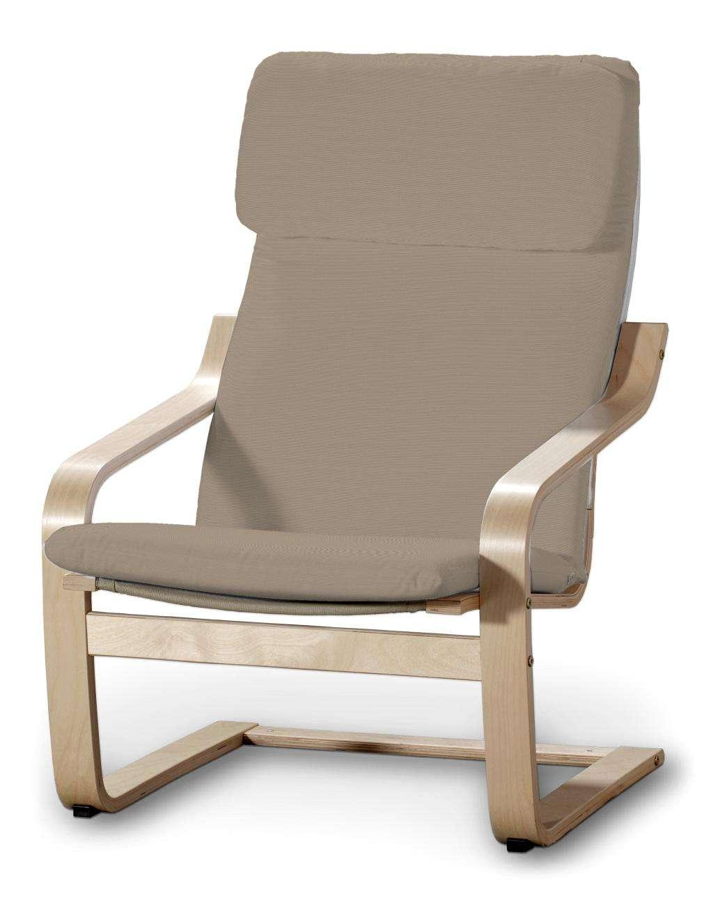 Poduszka na fotel Poäng w kolekcji Cotton Panama, tkanina: 702-28