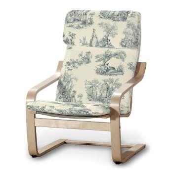 Poäng armchair cushion + cover (with fixed headrest), blue ...