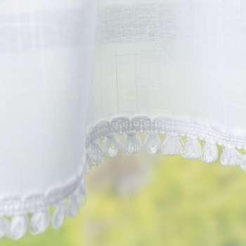 Lambrekin s třásněmi na metry, výška  50 cm + 2,5 cm volánek