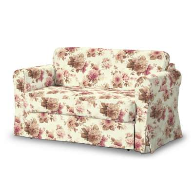 Hagalund sofa bed cover 141-06 burgundy and beige roses, ivory background Collection Londres