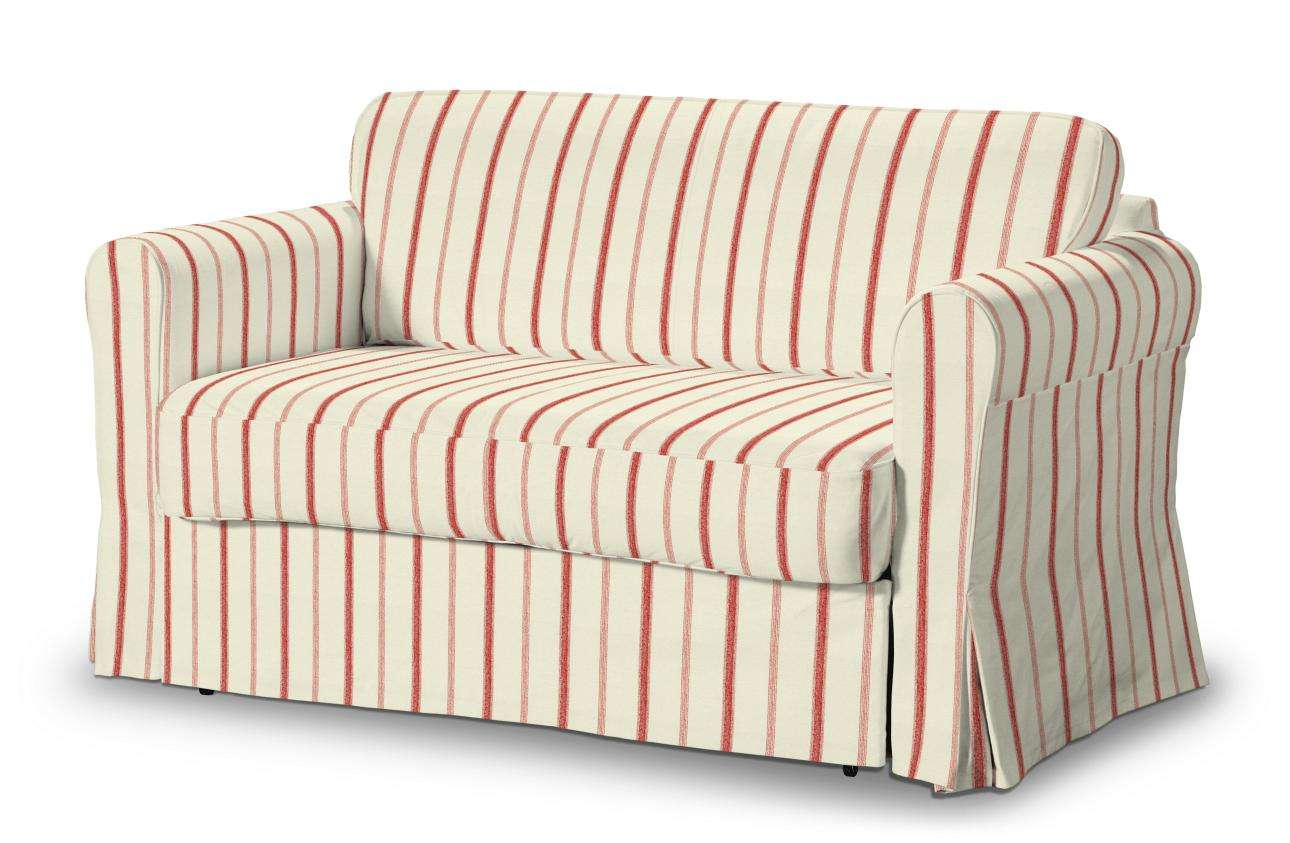 Hagalund Sofa Bed Cover Red Stripes Ivory Background