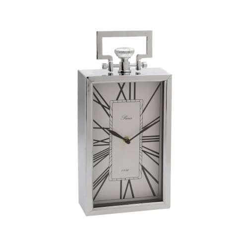 Paris Silver Mantel Clock 32.5cm