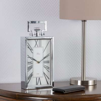 Kaminuhr Paris Silver 32,5cm Uhren - Dekoria.de