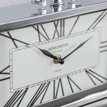 Zegar London Silver wys. 23cm  25x6x23cm