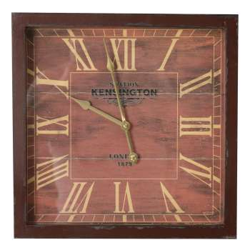 Wanduhr London Brown 40x6x40cm