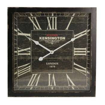 Wanduhr London Black 40x6x40cm