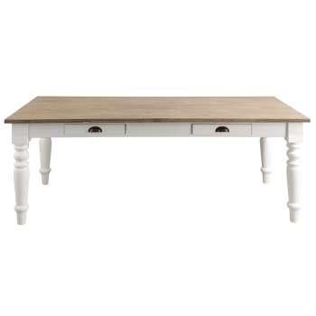 Stół Brighton 160x80x78cm white&natural