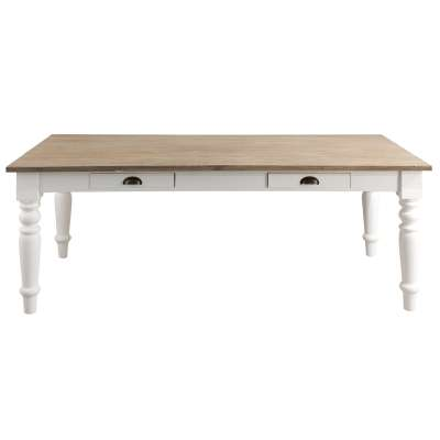 Tisch Brighton 160x80x78 cm white&natural