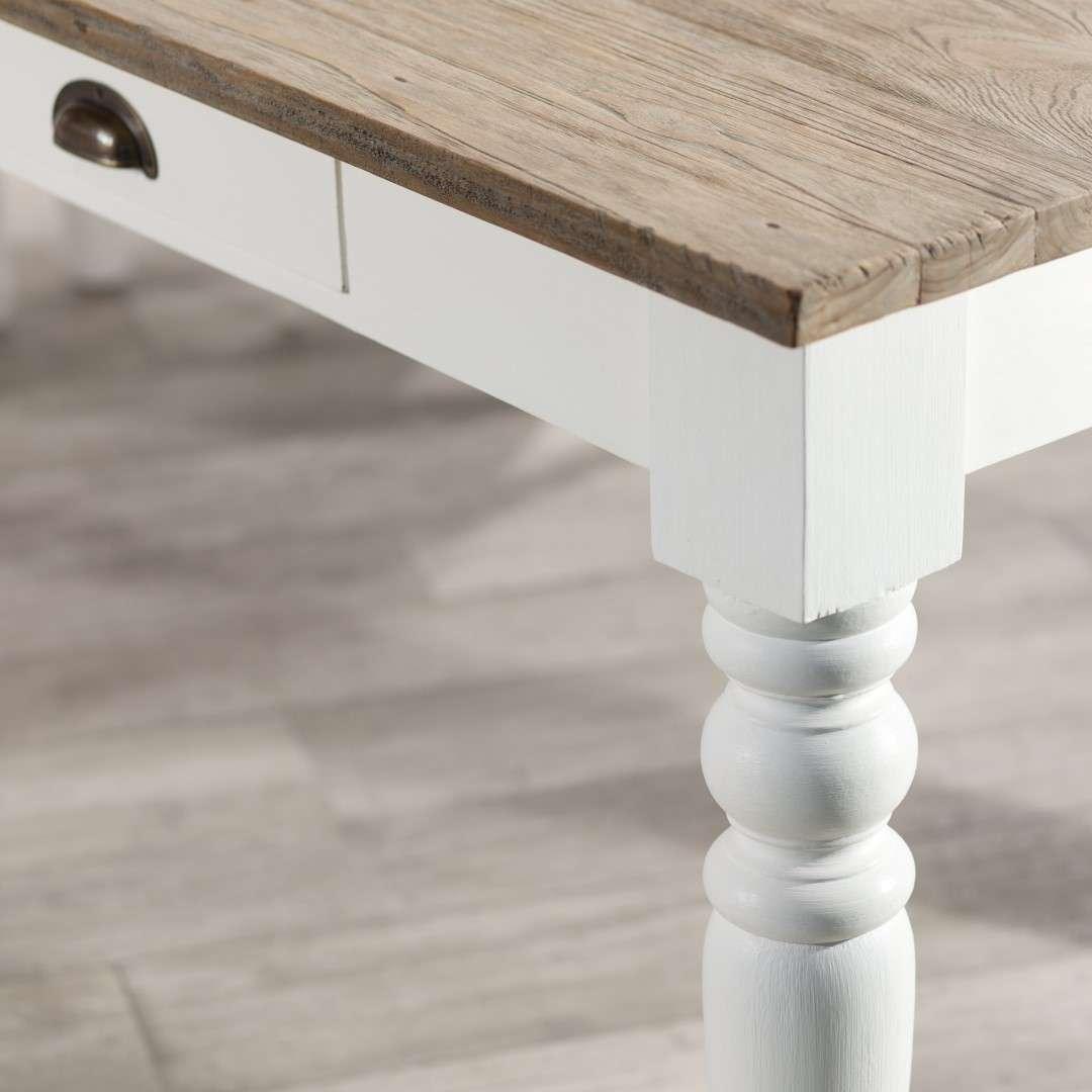 Tisch Brighton 160x80x78 cm white&natural