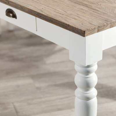 Stół Brighton 140x80x78cm white&natural