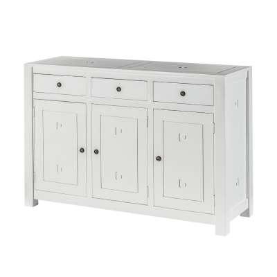 Kommode Noa white 3 Türen + 3 Schubladen 150x50x100cm Möbel - Dekoria.de