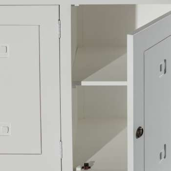Komoda Noa white, 3drzwi + 3szuflady 150x50x100cm