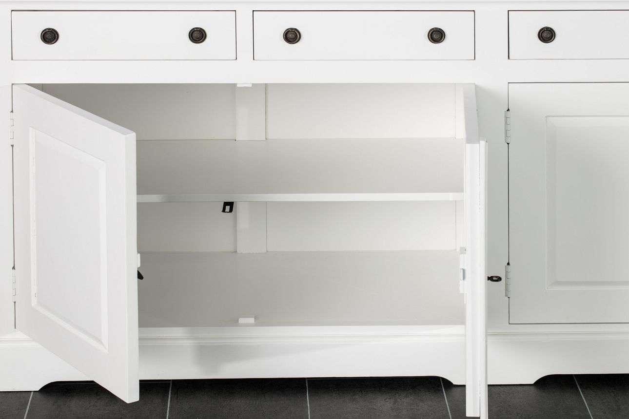 Komoda Aston 4 drzwi + 4 szuflady, white 190x48x80cm