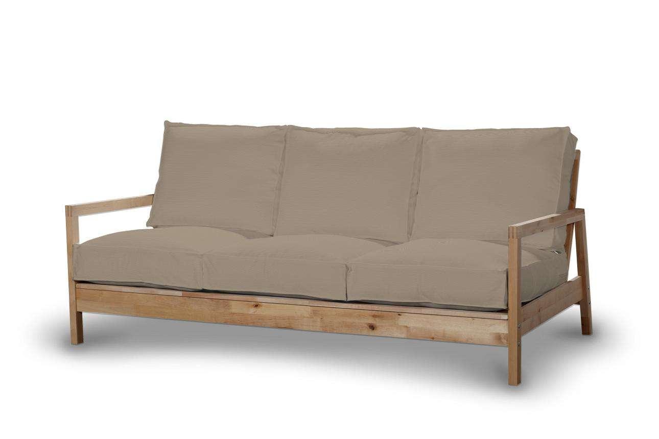 Pokrowiec na sofę Lillberg 3-osobową nierozkładaną w kolekcji Cotton Panama, tkanina: 702-28
