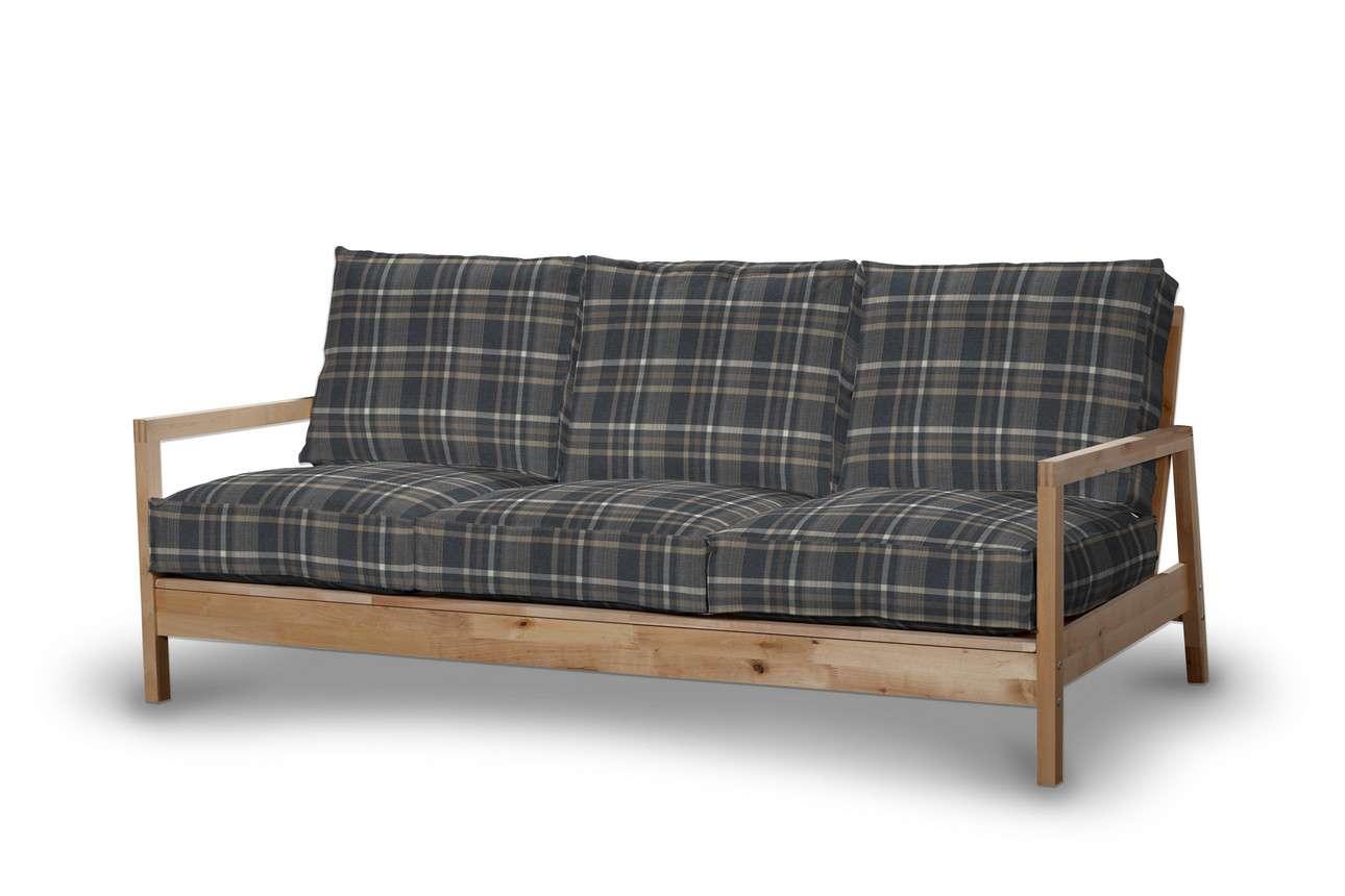 Pokrowiec na sofę Lillberg 3-osobową nierozkładaną w kolekcji Edinburgh, tkanina: 703-16