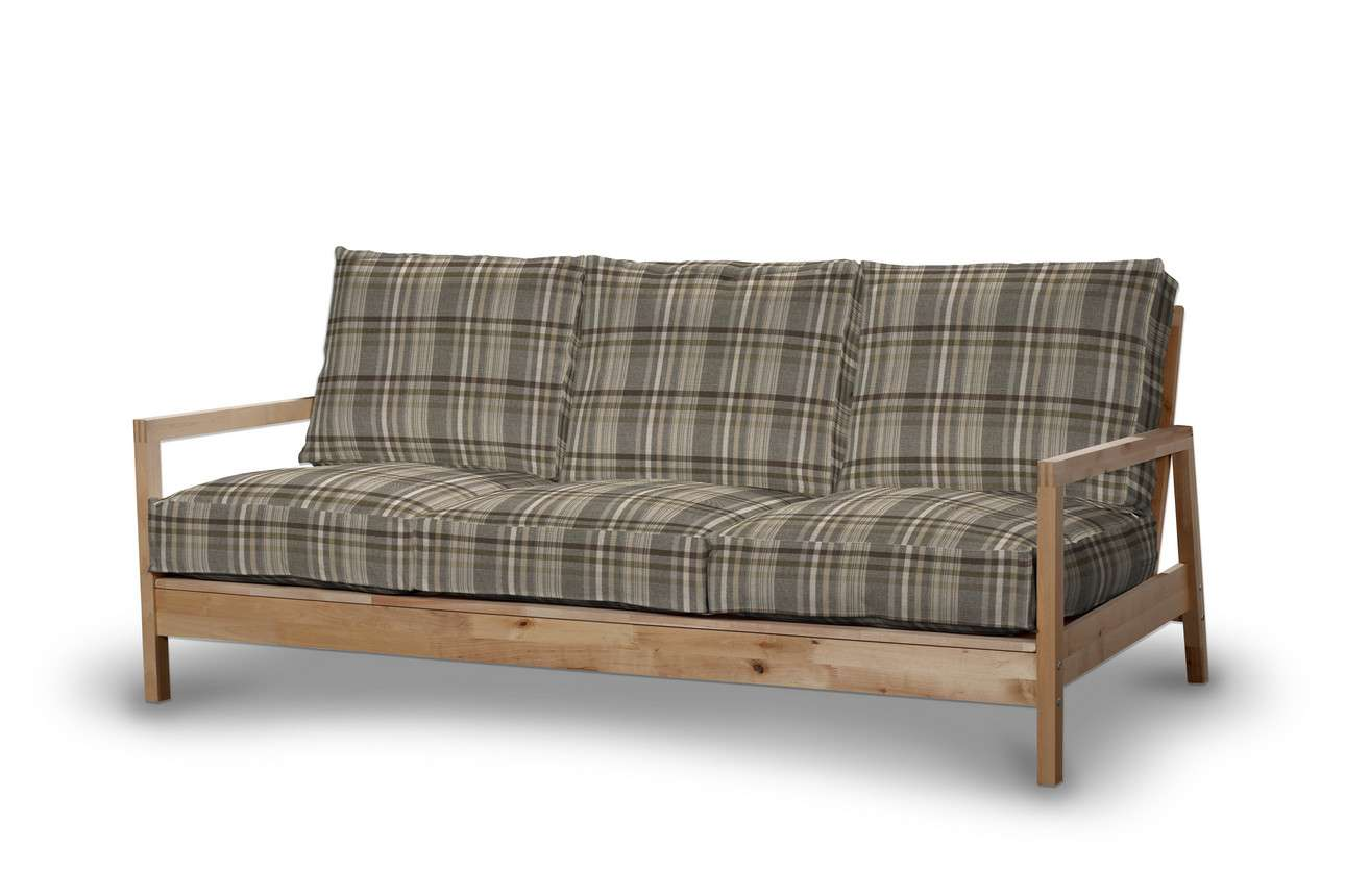 Pokrowiec na sofę Lillberg 3-osobową nierozkładaną w kolekcji Edinburgh, tkanina: 703-17