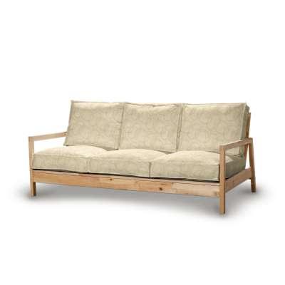 Pokrowiec na sofę Lillberg 3-osobową nierozkładaną 161-81 geometryczny wzór na kremowym tle Kolekcja Living