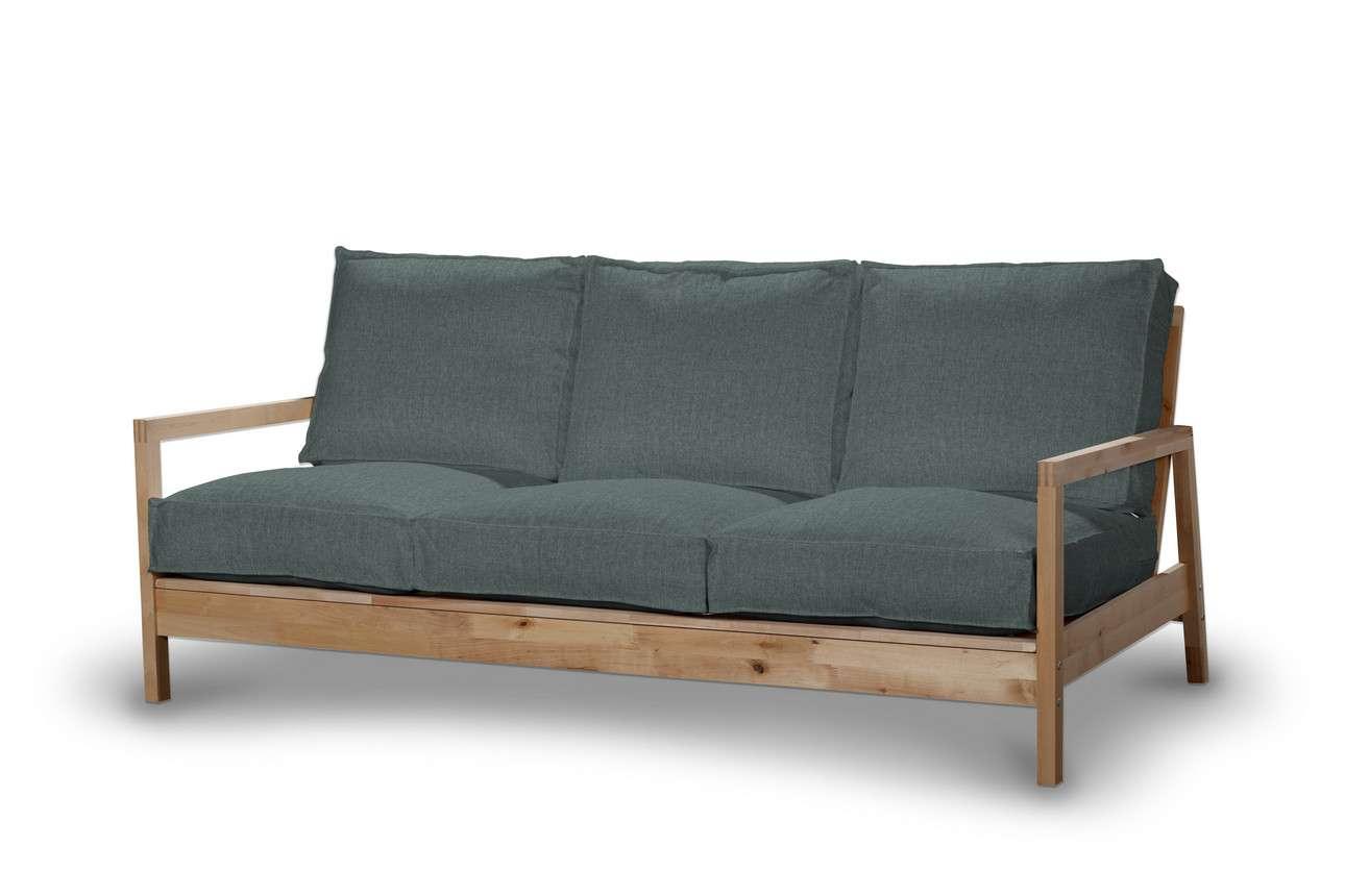Pokrowiec na sofę Lillberg 3-osobową nierozkładaną w kolekcji City, tkanina: 704-85