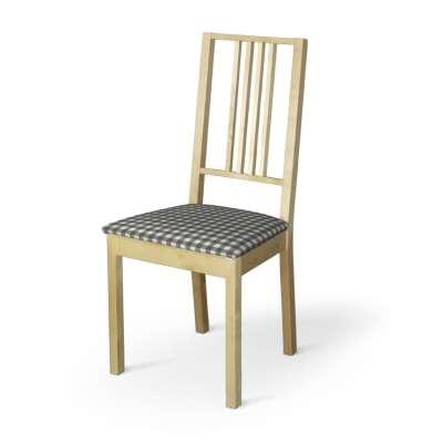 Börje chair seat pad cover 136-11 graphite and white check (1.5cm x 1.5cm) Collection Quadro