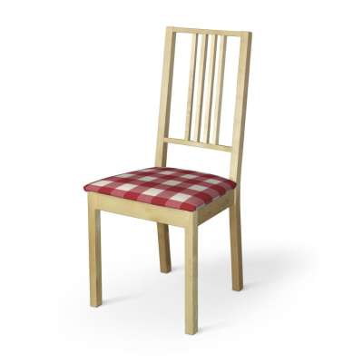 Pokrowiec na siedzisko Börje 136-18 czerwono biała krata (5,5x5,5cm) Kolekcja Quadro
