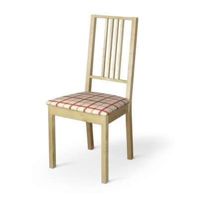 Pokrowiec na siedzisko Börje 131-15 ecru tło, czerwona kratka Kolekcja Avinon
