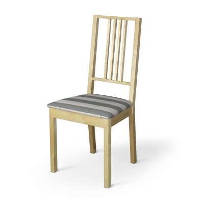 Poťah na stoličku Börje 142-71 sivo - biele pásy Kolekcia Quadro