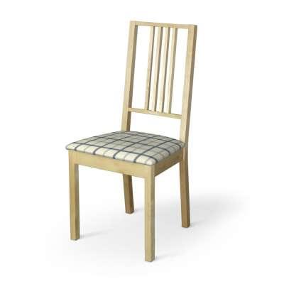 Poťah na stoličku Börje 131-66 modré káro na svetlobéžoom podklade Kolekcia Avinon