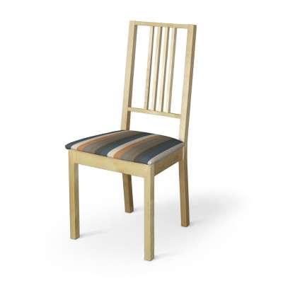 Börje ülőke huzat 143-58 színes csíkok rozsda-barna-kék Méteráru Vintage 70's