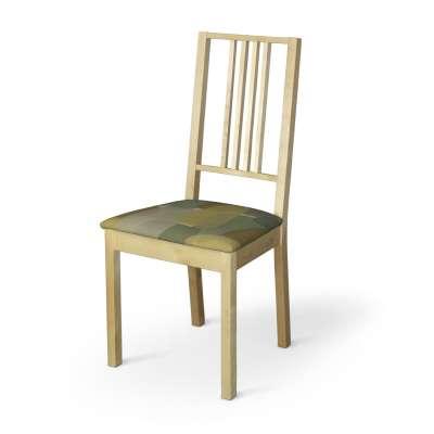 Pokrowiec na siedzisko Börje 143-72 geometryczne wzory w zielono-brązowej kolorystyce Kolekcja Vintage 70's