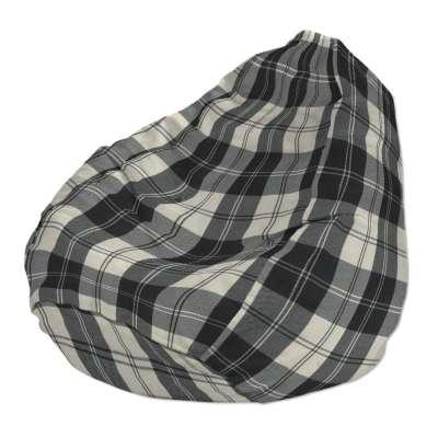 Betræk til sækkestol 115-74 naturhvid-sort ternet Kollektion Edinburgh