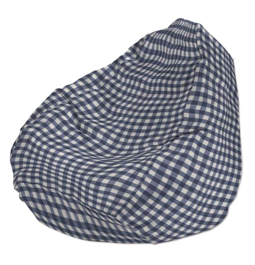 Pokrowiec na worek do siedzenia pokrowiec Ø50x85cm w kolekcji Quadro, tkanina: 136-01