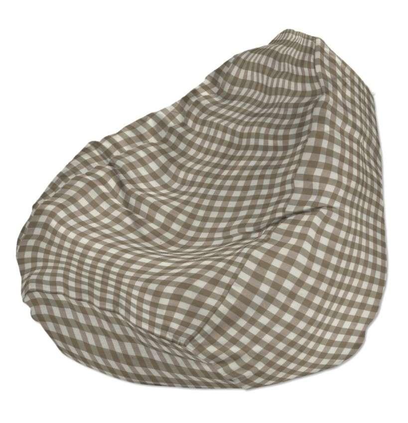 Pokrowiec na worek do siedzenia pokrowiec Ø50x85cm w kolekcji Quadro, tkanina: 136-06
