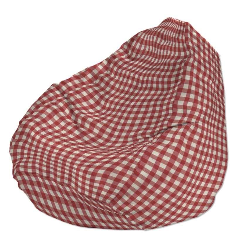 Pokrowiec na worek do siedzenia pokrowiec Ø50x85cm w kolekcji Quadro, tkanina: 136-16