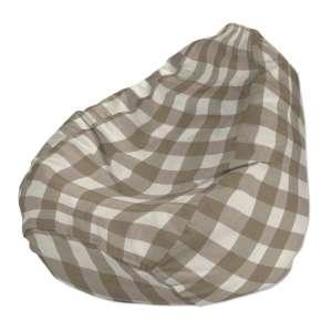 Pokrowiec na worek do siedzenia pokrowiec Ø50x85cm w kolekcji Quadro, tkanina: 136-08