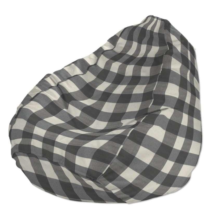 Pokrowiec na worek do siedzenia pokrowiec Ø50x85cm w kolekcji Quadro, tkanina: 136-13