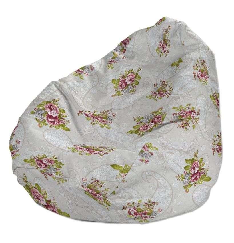Pokrowiec na worek do siedzenia pokrowiec Ø50x85cm w kolekcji Flowers, tkanina: 311-15