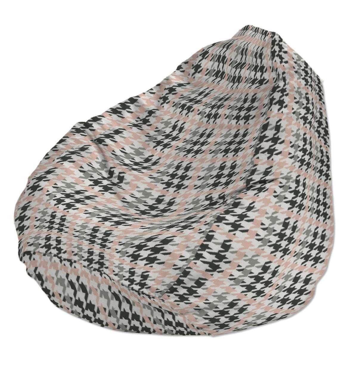 Pokrowiec na worek do siedzenia pokrowiec Ø50x85cm w kolekcji Brooklyn, tkanina: 137-75