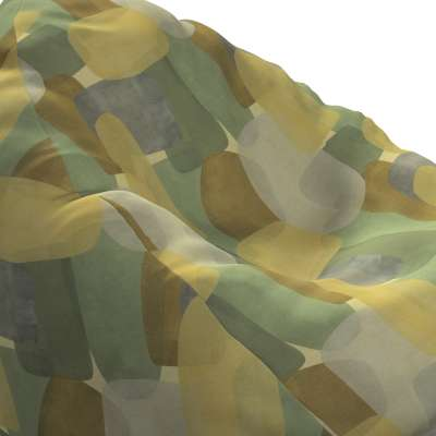 Hoes voor zitzak 143-72 geometryczne wzory w zielono-brązowej kolorystyce Collectie Vintage 70's