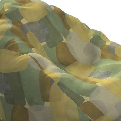 Pokrowiec na worek do siedzenia 143-72 geometryczne wzory w zielono-brązowej kolorystyce Kolekcja Vintage 70's