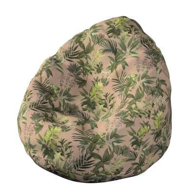 Pokrowiec na worek do siedzenia 143-71 zielona roślinność na brudnoróżowym tle Kolekcja Tropical Island