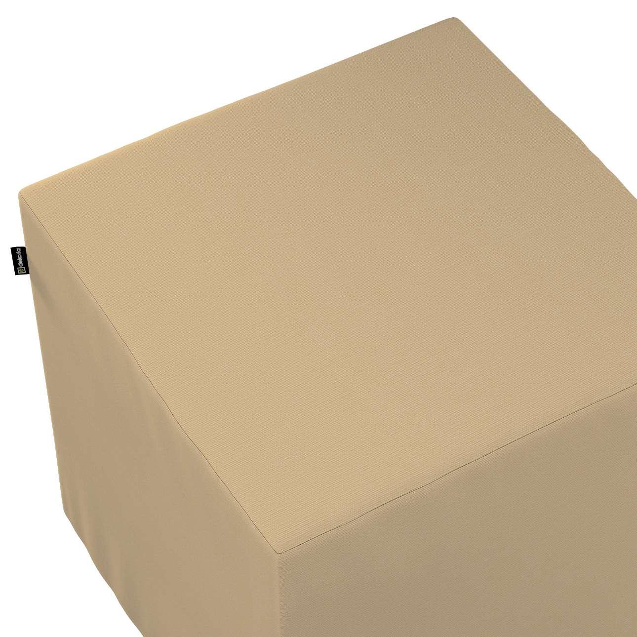 Bezug für Sitzwürfel von der Kollektion Cotton Panama, Stoff: 702-01