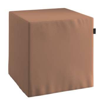 Pokrowiec na pufę kostke kostka 40x40x40 cm w kolekcji Cotton Panama, tkanina: 702-02