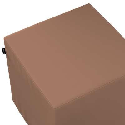 Betræk til siddepuf 702-02 Mellembrun Kollektion Cotton Panama