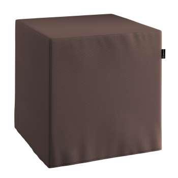 Pokrowiec na pufę kostke kostka 40x40x40 cm w kolekcji Cotton Panama, tkanina: 702-03