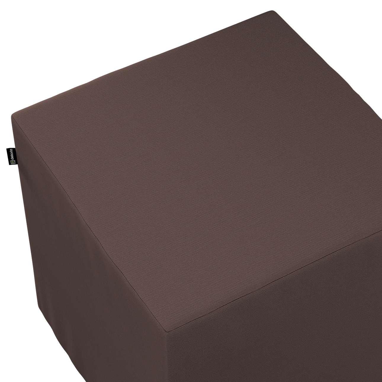Pokrowiec na pufę kostkę w kolekcji Cotton Panama, tkanina: 702-03