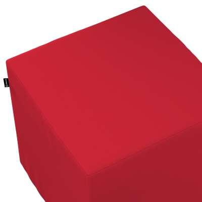 Betræk til siddepuf 702-04 Rød Kollektion Cotton Panama