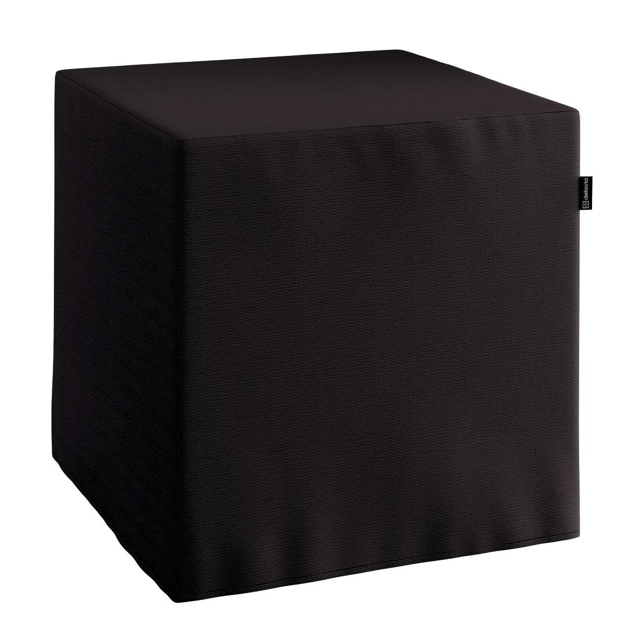Pokrowiec na pufę kostke kostka 40x40x40 cm w kolekcji Cotton Panama, tkanina: 702-08