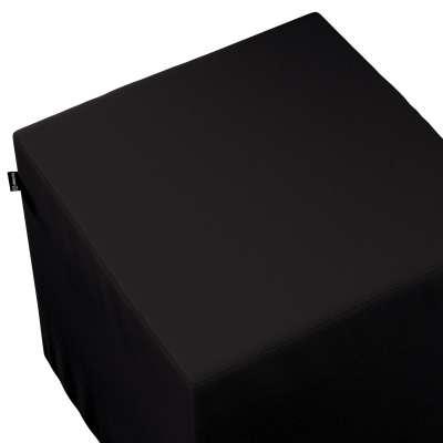 Pokrowiec na pufę kostkę w kolekcji Cotton Panama, tkanina: 702-09